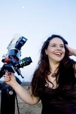 Pamela with Telescope