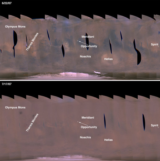 Martian Dust Storms versus non-Stormy Mars