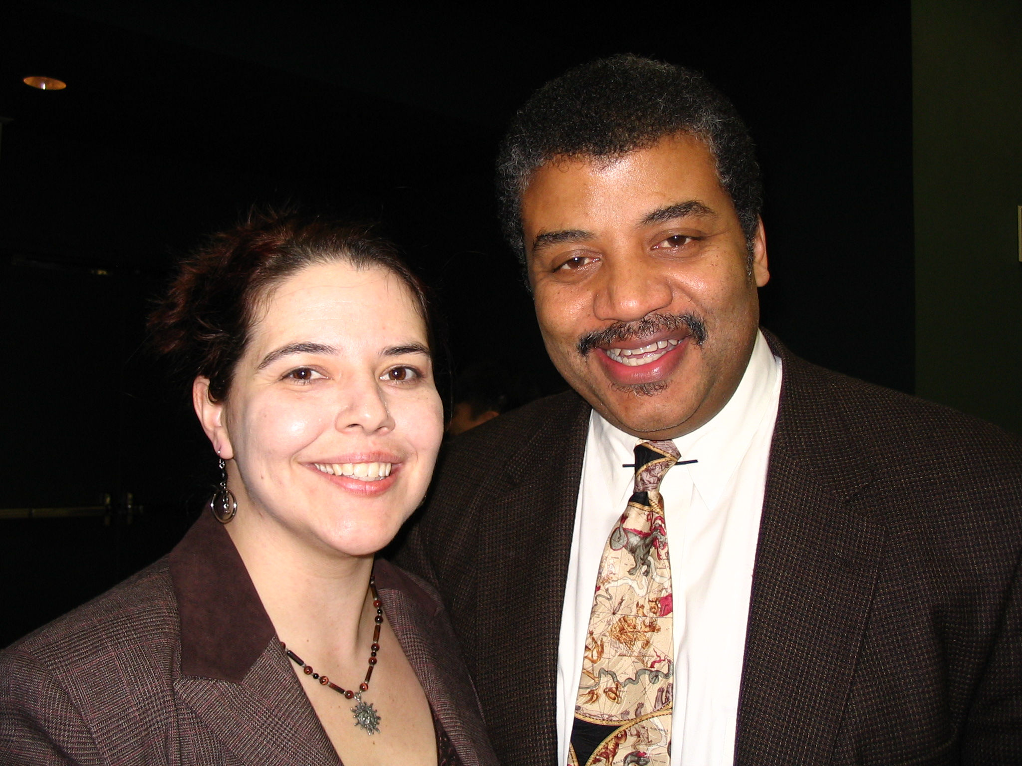 Pamela and Neil deGrasse Tyson