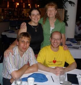 Pamela, Nancy, Phil, Chris (Clockwise from top left)