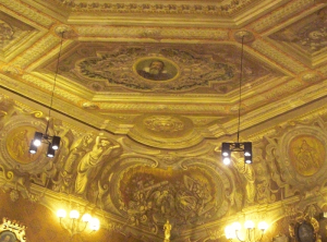 "Galileo Painted on Ceiling of ""Aula Magna of Palazzo Bo"""