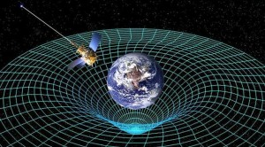 Gravity Probe B orbits earth, captured in its gravity well