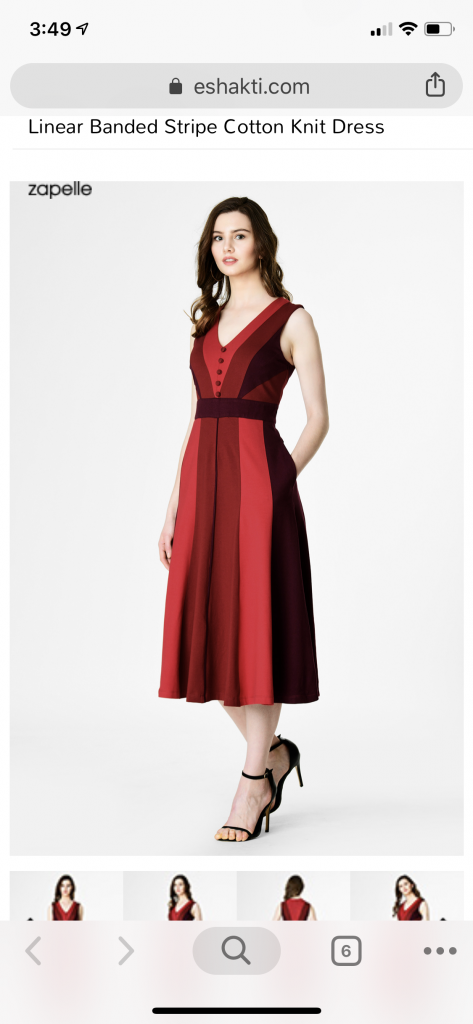 A Red Dress on eShakti